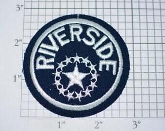 Riverside Vintage (Mint Condition) Iron-on Embroidered Clothing Patch Souvenir Collectible Star Emblem Travel Trip Tourist Memento Crest