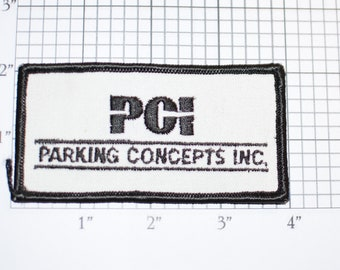 PCI Parking Concepts Inc Rare Vintage Iron-On Embroidered Clothing Patch Uniform Shirt Vest Jacket Attendant Valet Cosplay Costume Worker