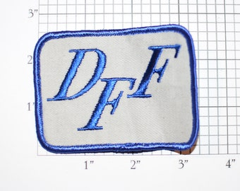 DFF Vintage Iron-on Embroidered Clothing Patch for Uniform Shirt Jacket Vest Emblem Logo Insignia Truck Trucking Logistics Freight Forwarder