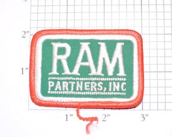Ram Partners INC RARE Embroidered Iron-on Clothing Patch Souvenir Collectible Memorabilia Logo Uniform Hat Shirt Workshirt Emblem  Logo