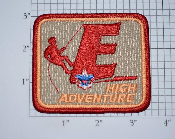 High Adventure E Mint Condition BSA Vintage Embroidered Uniform Patch Cub Boy Scout Memento Emblem Badge Collectible Keepsake Logo