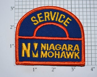 Service Niagara Mohawk New York Power Company NY Sew-On Vintage Embroidered Clothing Patch for Uniform Shirt Jacket Hat Costume Collectible