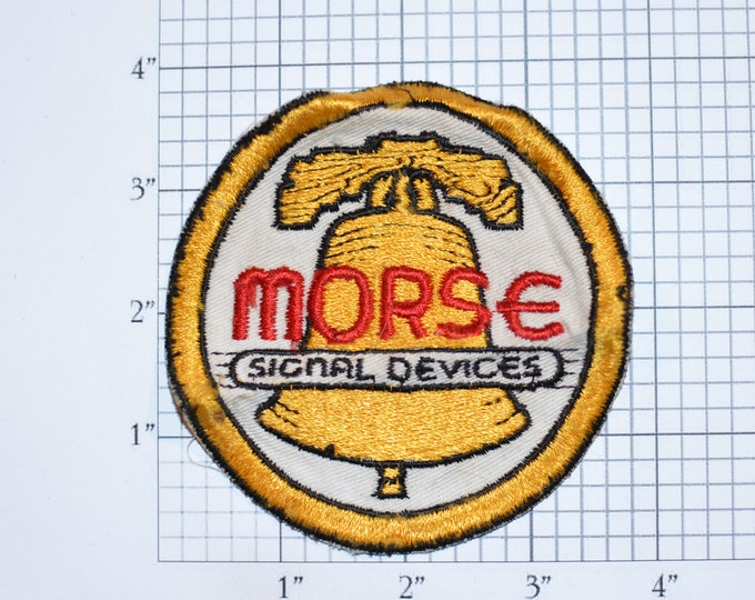 Morse Signal Devices Vintage Sew-on Embroidered Clothing Patch Insignia Logo Emblem for Jacket Vest Shirt Scrapbook Memory Box Collectible