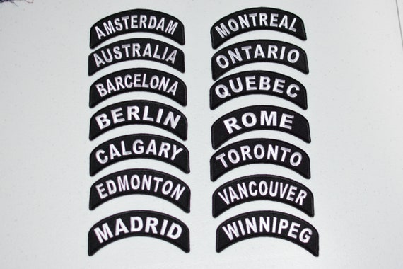 WINNIPEG ONE-WAY SIGN EMBROIDERED IRON-ON PATCH applique CANADA TRAVEL SOUVENIR