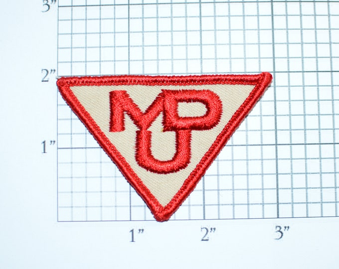 Montana Dakota Utilities Company MDU Resources Group Sew-on Vintage Clothing Patch for Uniform Workshirt Jacket Work Shirt Emblem Logo Text