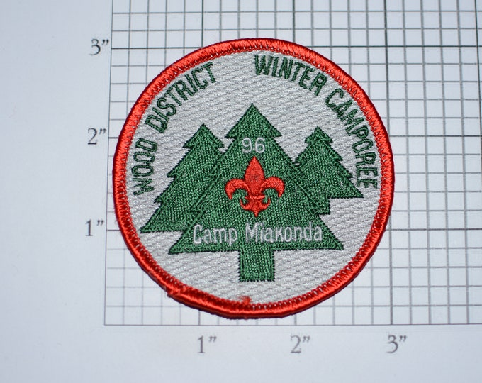 Toledo Area Council Wood District Winter Camporee 1996 Scouts of America BSA Vintage Embroidered Patch Memento Emblem Collectible Keepsake