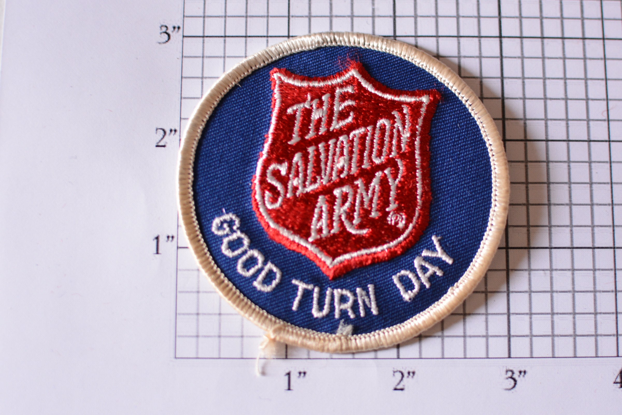 The Salvation Army Good Turn Day Iron-On Vintage Embroidered ... 30fadb3be0d