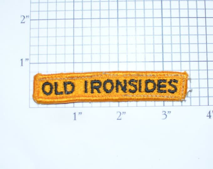 """First 1st Armored Division """"Old Ironsides"""" US Army Sew-on Vintage Embroidered Clothing Patch Uniform Tab Text Military Vet Gift Idea Emblem"""