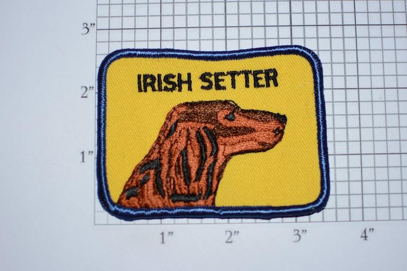 Irish Setter Breed Vintage Embroidered Clothing Patch Applique Dog Lover Gift Idea Canine Pet Vest Jacket Shirt Backpack Jeans Keepsake Logo