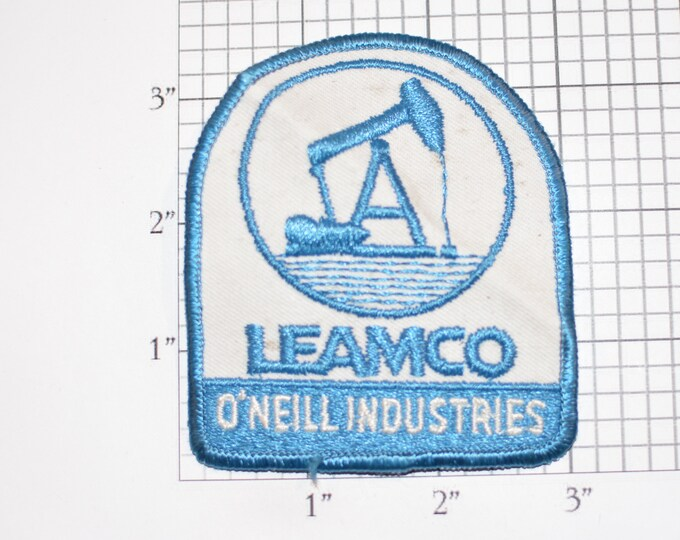 LEAMCO O'Neill Industries (Midland, Texas) Sew-On Vintage Embroidered Clothing Patch Employee Uniform Logo Rare Collectible Insignia Crest