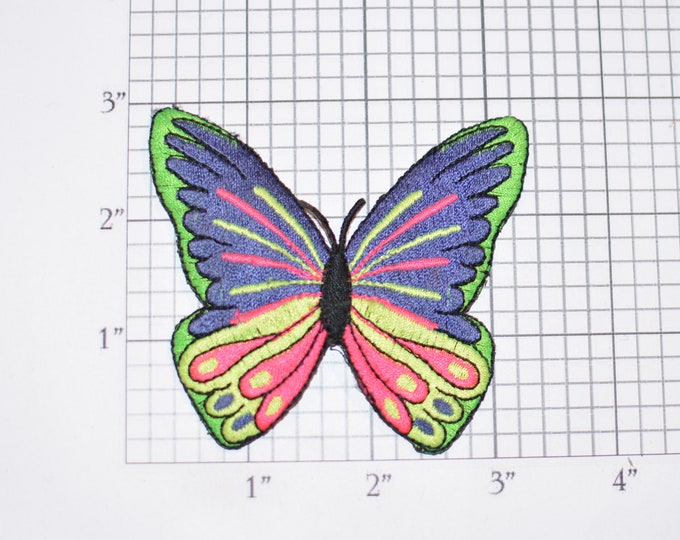 Beautiful Multi-Colored Butterfly Vintage Embroidered Patch DIY Craft Clothing Clothes Repair Fashion Accent Decorative Adornment Fun Emblem
