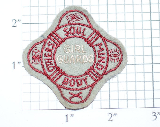 Girl Guards (Salvation Army) Soul Mind Body Others Embroidered Vintage Clothing Patch Collectible Souvenir Badge Emblem Insignia Keepsake