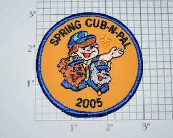 Spring Cub-N-Pal 2005 Embroidered Iron-on Clothing Applique Patch Mint Condition BSA Uniform Vest Emblem Collectible