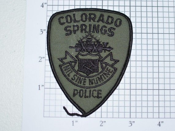 Colorado Springs Police Sew On Subdued Embroidered Patch Nil
