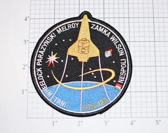 STS-120 Space Shuttle Discovery Iron-on Mission Patch Collectible Memorabilia NASA Tani Wheelock Parazynski Melroy Zamka Wilson Nespoli