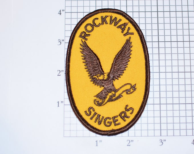 Rockway Singers Rare Sew-On Vintage Embroidered Clothing Patch Jacket Jeans Backpack Shirt Vest Music Souvenir Collectible Crest Eagle Logo