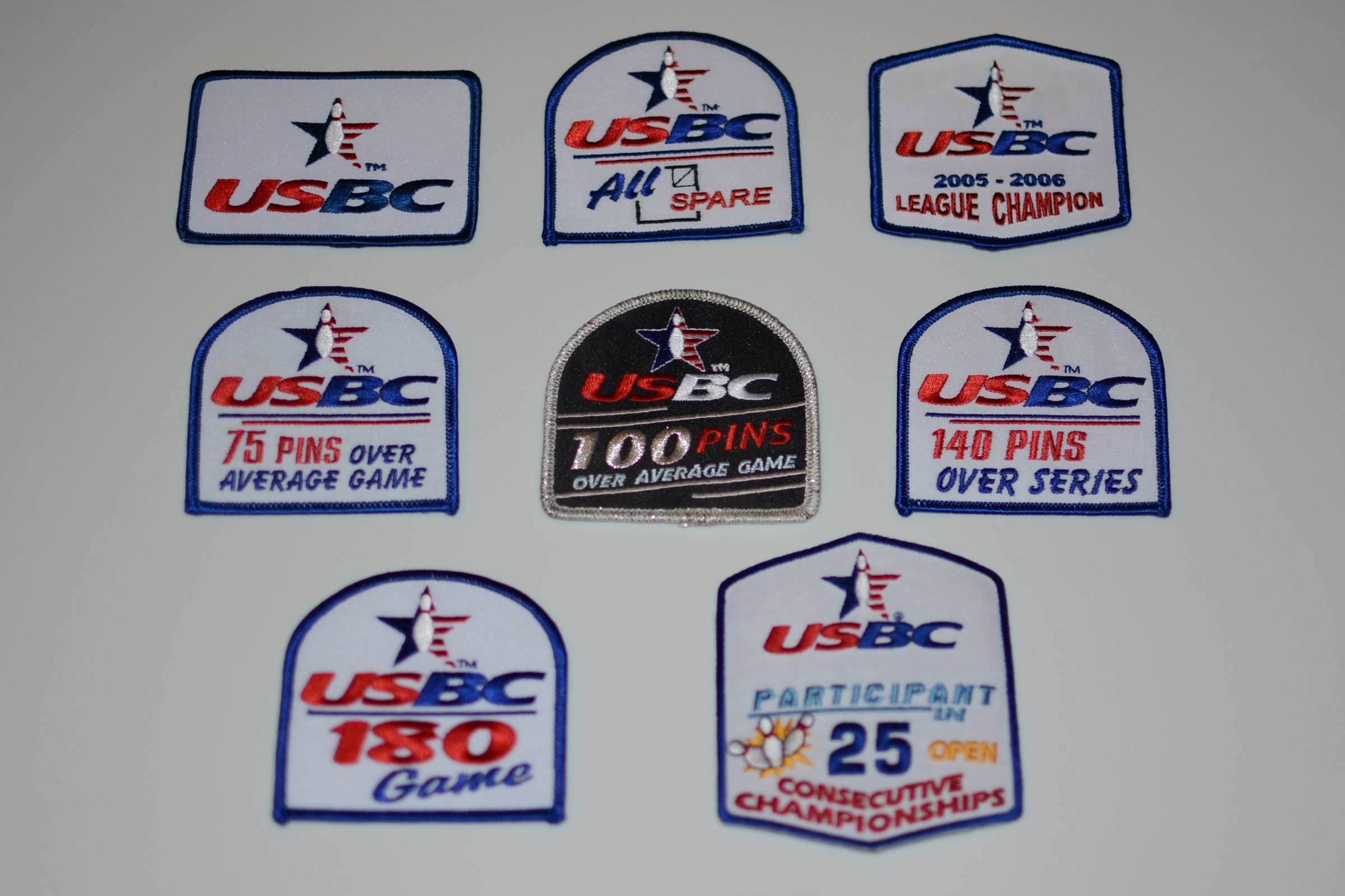 Usbc Us Bowling Congress Iron On Embroidered Clothing Patch