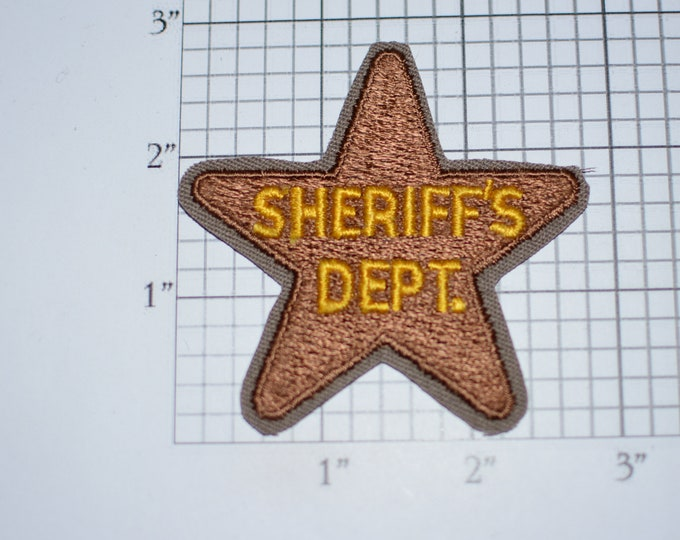 Sheriff's Dept Star Sew-on Vintage Embroidered Patch Shirt Vest Jacket Police Uniform Costume Play Pretend Cosplay Fun Kid Fun Clothes Idea