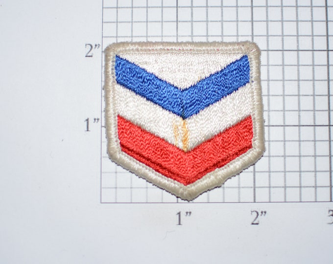 Standard Oil (Rust Stained) Sew-On Embroidered Vintage Clothing Patch For Employee Uniform Jacket Shirt Hat Keepsake Collectible Memento