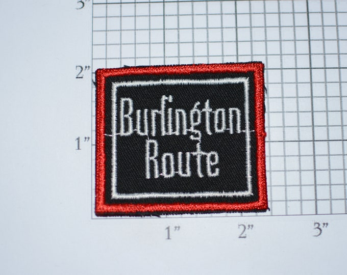 Burlington Route Railroad Railway Sew-On Embroidered Clothing Patch Train Souvenir Logo Emblem Collectible Memorabilia Gift Keepsake Emblem