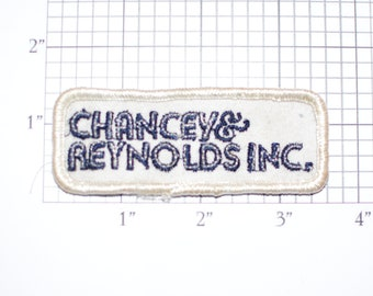 Chancey & Reynolds Inc. (Dirty and/or Distressed) Vintage Sew-on Embroidered Clothing Patch for Uniform Shirt Vest Logo Insignia Emblem HVAC