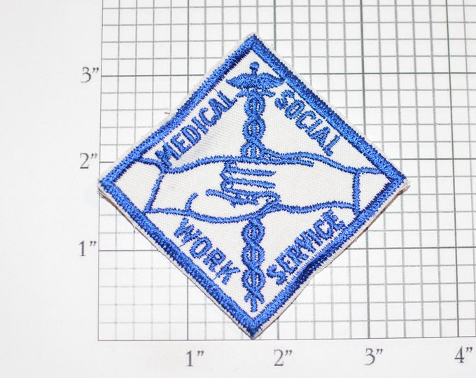 Medical Social Work Service Iron-On Embroidered Clothing Patch for Employee Worker Counselor Uniform Shoulder Shirt Vest Jacket Emblem Logo