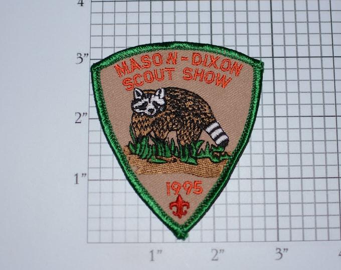 Mason Dixon Scout Show Council BSA 1995 Vintage Uniform Patch Cub Boy Scout Memento Emblem Badge Collectible Keepsake Striped Tail Badger
