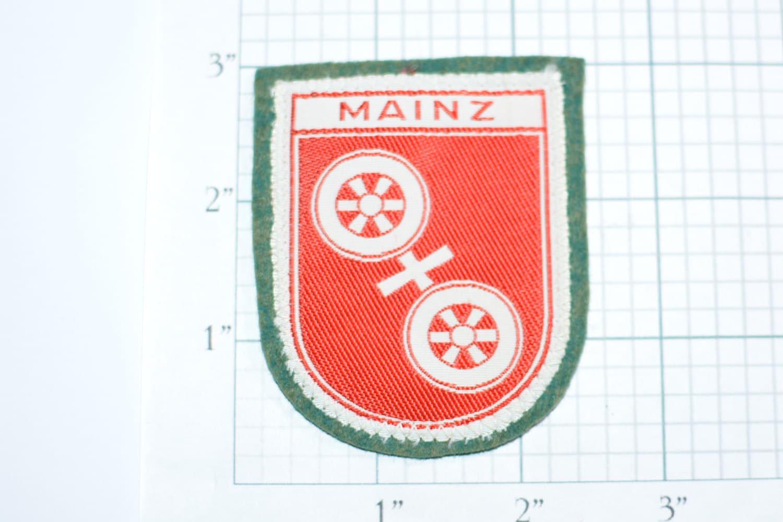 Mainz Germany RARE Vintage Sew-on Travel Patch Souvenir