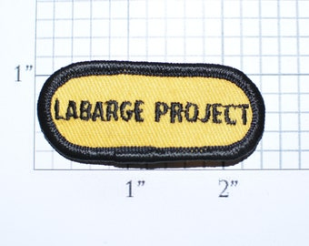 Labarge Project - Exxon Oil Gas Wyoming 1980s Authentic Vintage Embroidered Iron-On Patch for Uniform Jacket Vest Employee Work Shirt e33K