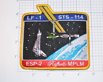 Lf-1 STS-114 Space Shuttle Discovery Iron-on Mission Patch Return to Flight Collectible Memorabilia NASA Iss Logistics Esp-2 Raffaello MPLM