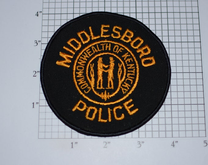 Middlesboro Police Commonwealth of Kentucky Iron-On Vintage Embroidered Patch Uniform Shoulder Jacket Vest Shirt Costume Cosplay Collectible