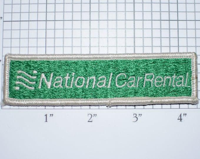 National Car Rental Vintage Embroidered Clothing Patch for Uniform Shirt Jacket Vest Workshirt Emblem Logo Insignia Costume Cosplay Memento