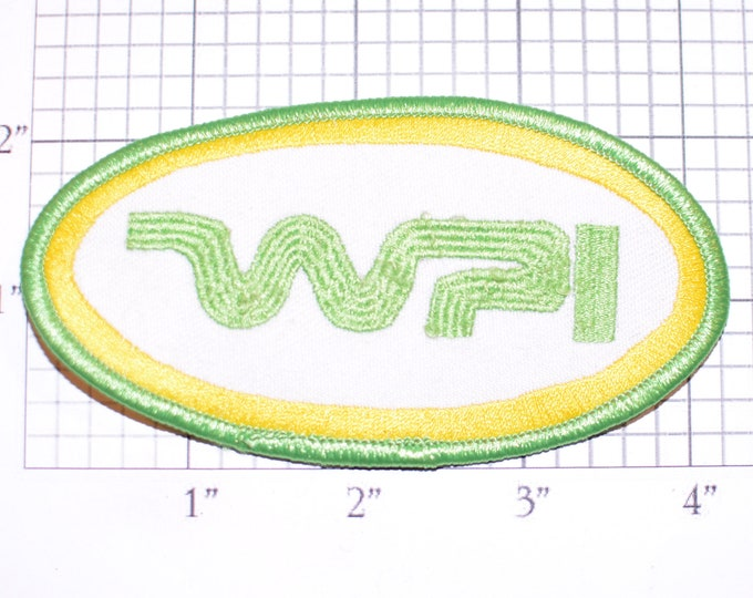 WPI Green Iron-on Embroidered Clothing Patch Uniform Shirt Logo Emblem Contractor Employee Worker Crest