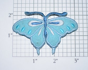 Beautiful Blue Butterfly Iron-On Vintage Embroidered Patch for DIY Craft Idea Clothing Clothes Repair Fashion Accent Decorative Adornment