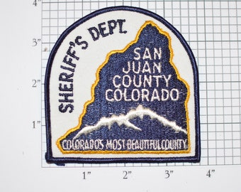 San Juan Colorado, Most Beautiful County Sheriff's Dept Sew-on Embroidered Clothing Patch Uniform Shoulder Jacket Vest Collectible Keepsake