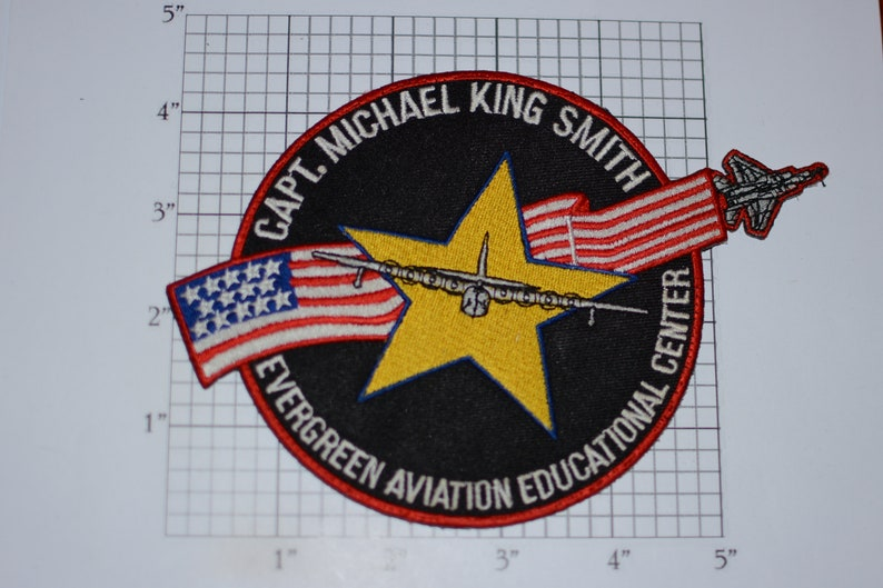 McMinnville, Oregon Captain Michael King Smith Evergreen Aviation Educational Center RARE Vintage Embroidered Clothing Patch Collectible