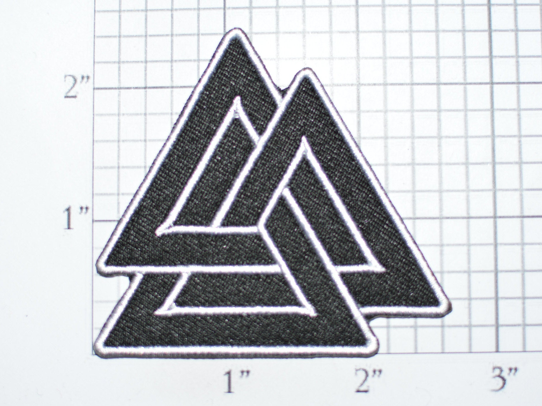 Valknut Iron On Embroidered Clothing Patch Biker Jacket Vest Etsy