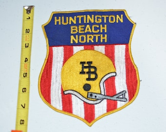 Huntington Beach North Football California Large Sew-On Vintage Embroidered Patch Clothing Jersey Uniform Collectible Memorabilia Sports e5