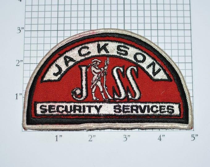 Jackson Security Services RARE Iron-On Vintage Embroidered Clothing Uniform Shoulder Patch for Jacket Vest Shirt Collectible Souvenir e31J