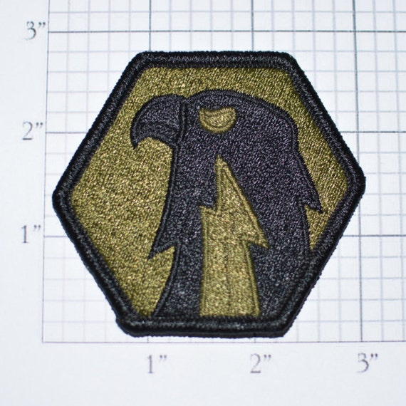 Army 6th Signal Command Subdued Iron-On Vintage Embroidered