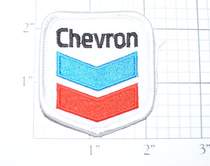 Chevron Iron-On Embroidered Vintage Clothing Patch circa early 1970s Oil Gas Service Station For Uniform Jacket Vest Shirt Hat Garage s15