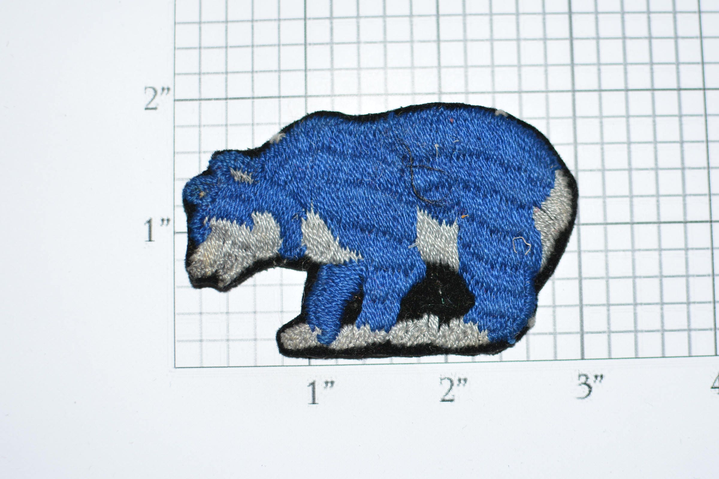 Bear Vintage Sew-On Embroidered Clothing Patch Jacket