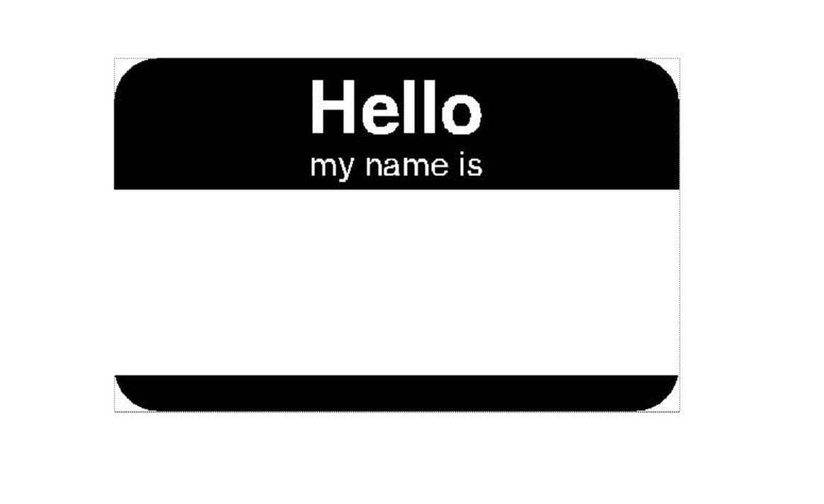 hello my name is and funny novelty variations paper stickers lot