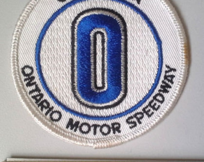 Ontario Motor Speedway - California - Defunct Racetrack Sew-On Vintage Embroidered Clothing Patch Racing Collectible Souvenir Emblem s13