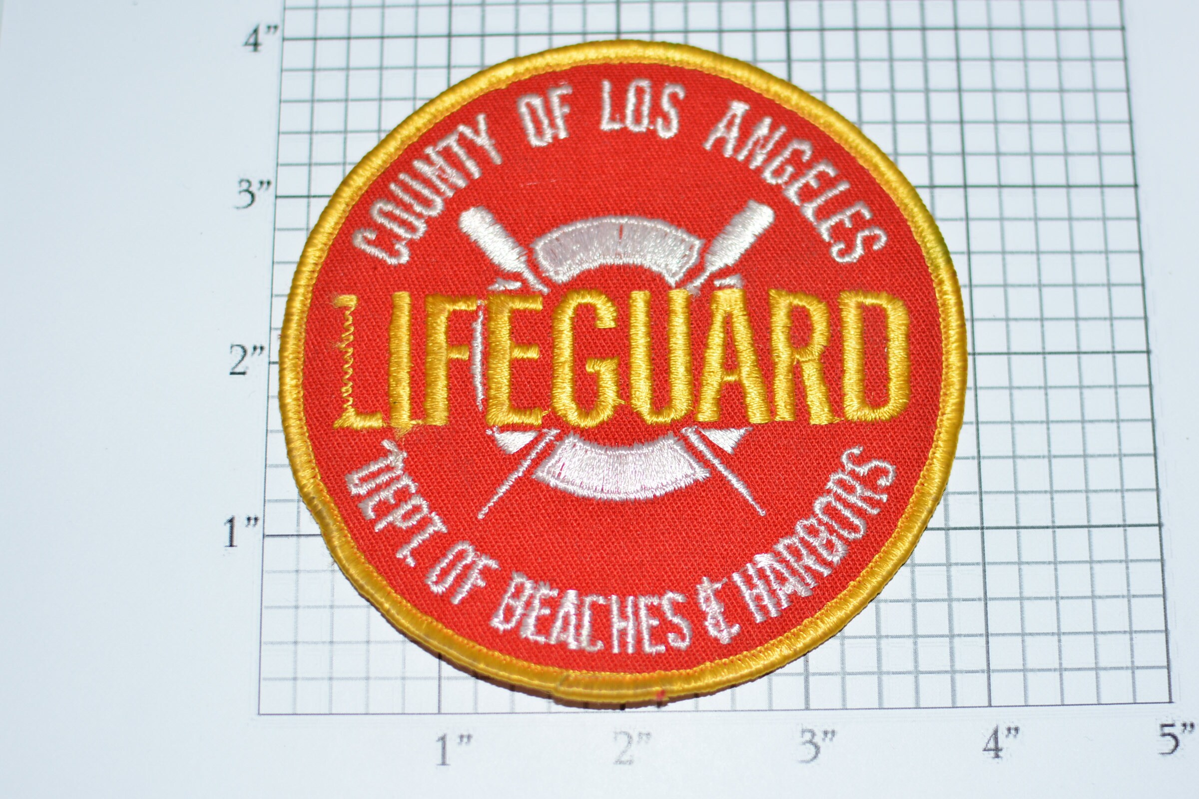 c2cc6eef290 County of Los Angeles Lifeguard (Distressed) Vintage Iron-on ...