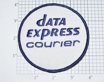 Data Express Courier Vintage Embroidered Iron-on Clothing Patch for Jacket Shirt Vest Uniform Workshirt Employee Emblem Cosplay Costume e33J