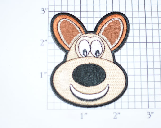 Cute Dog Puppy With Ears Up Iron-On Embroidered Clothing Patch for Fun DIY Clothes Clothing Kids Children Infant Playful Animal Logo