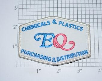EQ Chemicals & Plastics, Purchasing and Distribution Vintage Iron-on Embroidered Clothing Patch for Uniform Shirt Jacket Vest Emblem Logo
