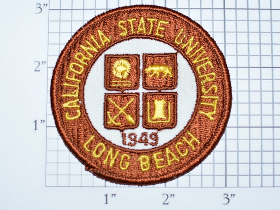 California State University Long Beach Sew On Vintage Patch Etsy
