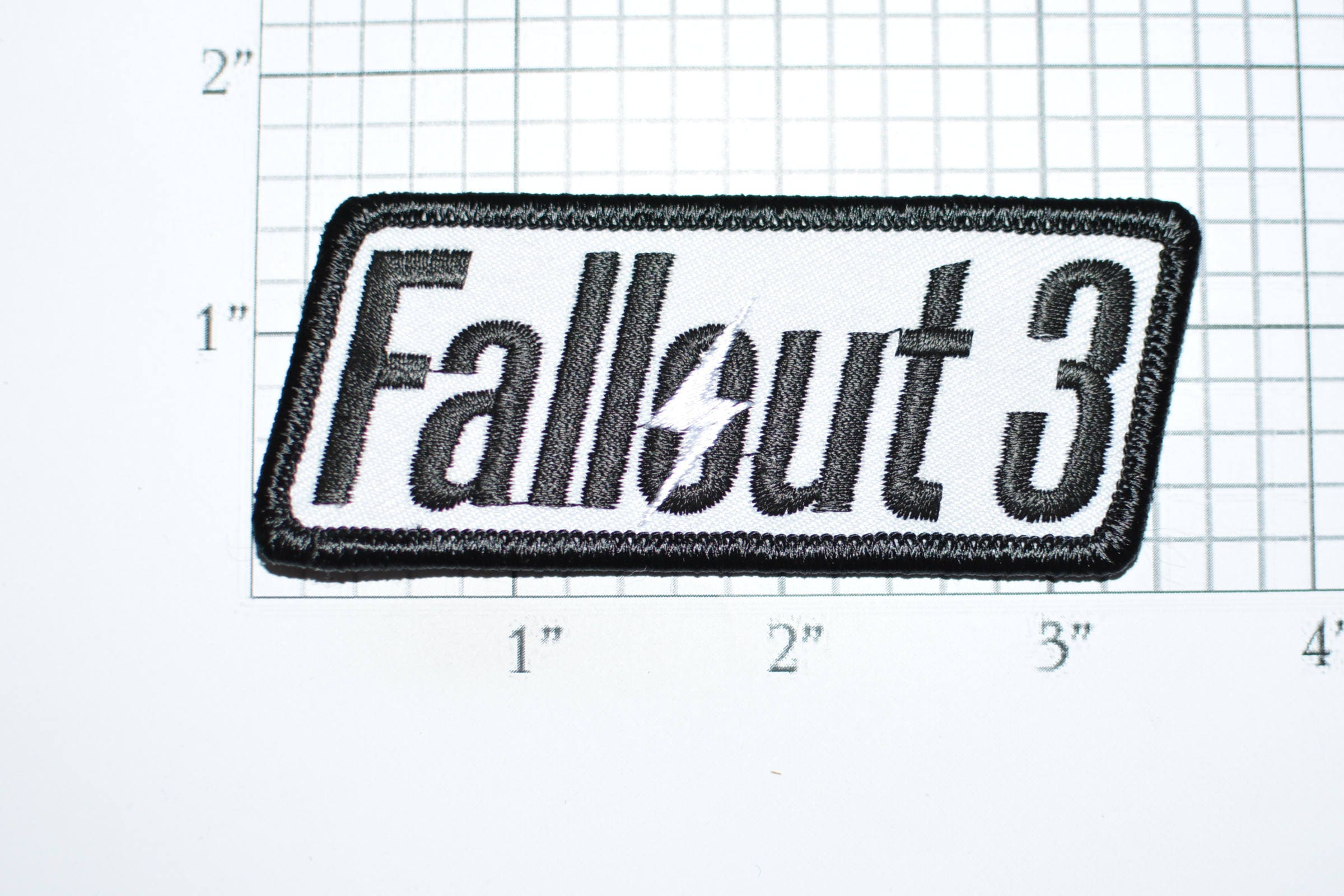 ac18a47a9d91 Fallout 3 Iron-On Embroidered Clothing Patch for Jacket Vest Jean Shirt  Backpack Novelty Badge Gamer Videogame Role Play Emblem e33K